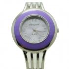 Fashionable Analog Quartz Bracelet Watch for Women - Purple + Silver (1 x LR626)