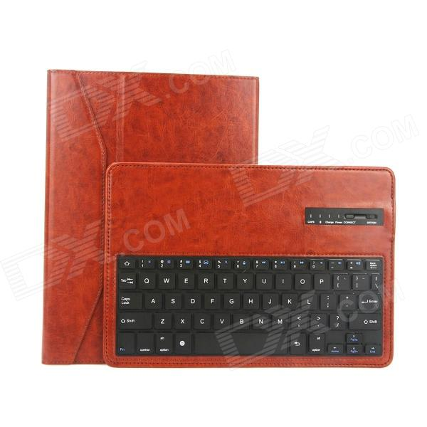EPGATE Wireless Bluetooth V3.0 Keyboard + Protective PU Leather Case for Samsung P600 / T520 - Brown