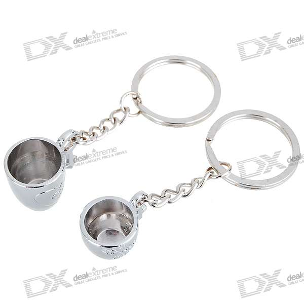 Drinking Cup Kirksite Couple's Keychains (Pair) lucky shot drinking roulette game 6 cup set