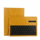 EPGATE Wireless Bluetooth V3.0 Keyboard + Protective PU Leather Case for Samsung P600/T520 - Yellow