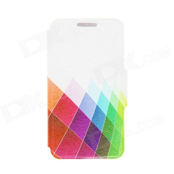 Kinston Color Diamond Pattern PU Leather Flip Open Case w/ Card Slots for Google LG Nexus 4 E960
