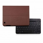 B.O.W Detachable Bluetooth V3.0 Keyboard With PU Leather Case for IPAD 2 / 3 / 4 - Brown + Black