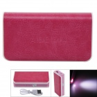 "AIDEIDAI P5002A ""5600mAh"" USB 18650 Battery Mobile Power Bank w/ LED - Deep Pink"