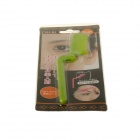 Portable ABS Foldable Cosmetic Eyebrow Comb - Green