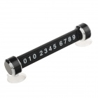 Car Magnetic Puzzle Phone Number Parking Plate with Two Suction Cups - Black + Silver