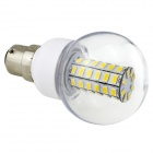HONSCO B22 6W 550lm 3000K 56-SMD 5730 LED Warm White Light Bulb - White + Silver (AC 220~240V)