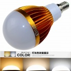 CXHEXIN G14-3+3 E14 6W 360lm 12-SMD 5630 LED Variable Light Bulb - Gold + White (AC 85~265V)