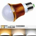 CXHEXIN G27A-3+3 E27 6W 360lm 12-SMD 5630 LED Variable Light Bulb - Gold + White (AC 85~265V)