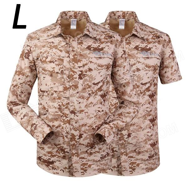 ESDY-621 Men's Outdoor Sports Climbing Detachable Quick-Drying Polyester Shirt - Camouflage (L) esdy 611 men s outdoor sports climbing detachable quick drying polyester shirt camouflage xxl