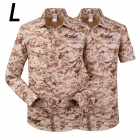 ESDY-621 Men's Outdoor Sports Climbing Detachable Quick-Drying Polyester Shirt - Camouflage (L)