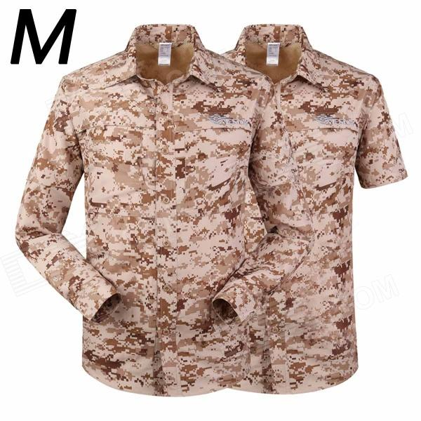 ESDY-622 Men's Outdoor Sports Climbing Detachable Quick-Drying Polyester Shirt - Camouflage (M) esdy 611 men s outdoor sports climbing detachable quick drying polyester shirt camouflage xxl