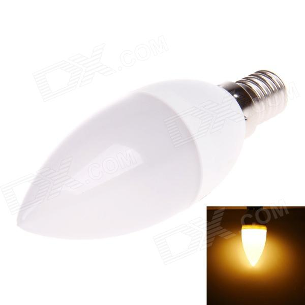 E14 3W 220lm 3000K 10-SMD 2835 LED Warm White Light Bulb - White (AC 220V) the white guard