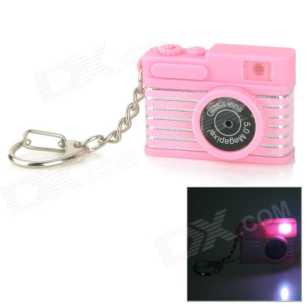 все цены на Creative Camera Style LED White Flashlight Keychain w/ Sound - Pink + Black (3 x AG10) онлайн