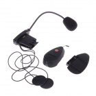 V2-100 100M 2-Rider Handsfree Bluetooth Intercom Set for Motorcycle - Black