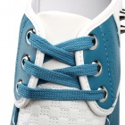 SNJ Fashionable Breathable Causal PU Leather Shoes for Men - Light Blue + White (Size 43)
