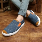 SNJ Breathable Men's Canvas Shoes Sneakers - Light Blue + Orange + White (EU Size 43)