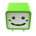 Creative Smily Towel Tissue Plastic Tube Box Holder - Green + White