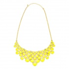 eQute PPEW17C7 Women's Exaggerated Squama Drop Pendant Necklace - Yellow + Golden