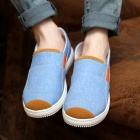 SNJ Breathable Men's Canvas Shoes Sneakers - Light Blue + Orange + White (EU Size 44)