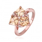 Shiny Fashionable Rhinestone Ornament Zinc Alloy Ring for Women -  Rose Gold (U.S Size 8)