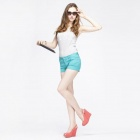 Catwalk88 Trendy European Style Women's Casual Summer Shorts - Green