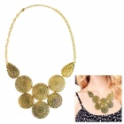 eQute Women's Fashionable Hollow Out Flower Bud Style Pendant Necklace - Copper