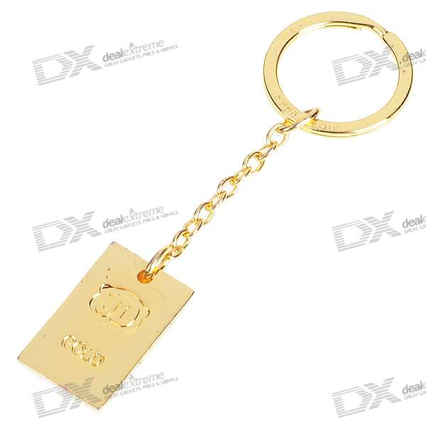 Gold Bullion Bar alliage en forme Keychain Zinc (Forme assorties)