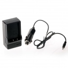 BLS1 Battery Charging Cradle/Car Charger for Olympus E-410 E-420 - Black (100~240V / US Plug)