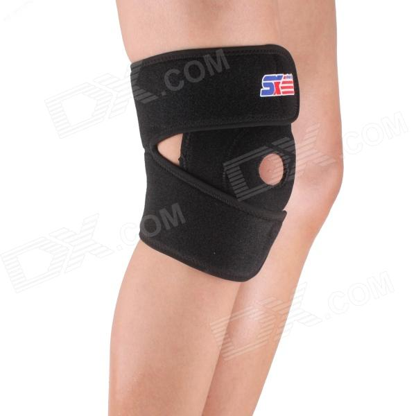 ShuoXin SX610 Adjustable Sports Knee Guard Protector - Black