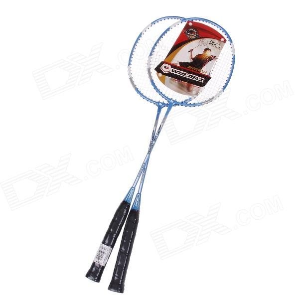 Winmax WMY51982 Aluminum Alloy Battledores / Badminton Rackets - Blue + Silver + White (Pair)