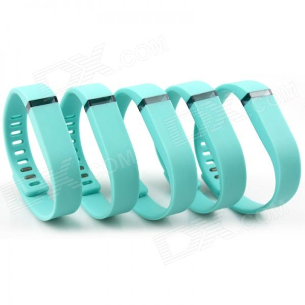 Replacement Sports Silicone Band Bracelet Wristband w/ Clasp for Fitbit Flex - Green