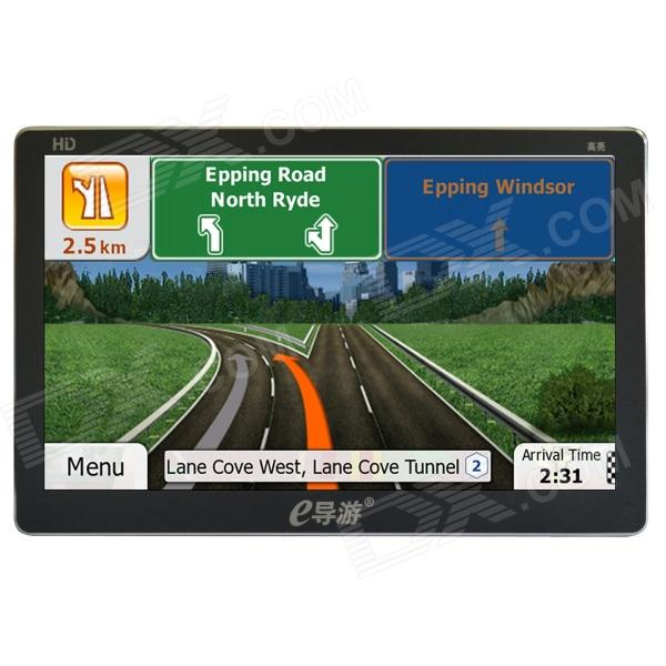 eDaoyou X8 7 inch Car GPS Ultra-Thin Navigator w/ FM / 8GB U.S. Free Map - Black