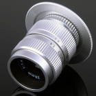 25mm F1.4 CCTV Lens + Macro Rings + C-M4/3 Adapter Ring Set for Olympus / Panasonic Camera - Silver