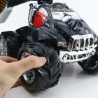 1:10 Oversized Stunt Tanker Off-road Remote Control Car Toy - Black + Red