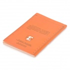 EDCGEAR Water-resistant Outdoor Travel Notepad Notebook - Orange + Black (11 x 16cm)