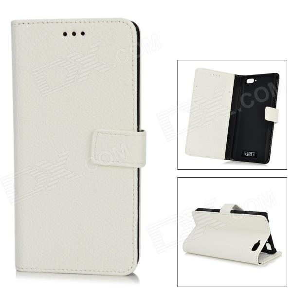 IKKI Protective Flip Open Leather Case w/ Stand + Card Slot for Amazon Fire Phone - White стоимость