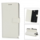 IKKI Protective Flip Open Leather Case w/ Stand + Card Slot for Amazon Fire Phone - White