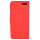 IKKI Protective Flip Open Leather Case w/ Stand + Card Slot for Amazon Fire Phone - Red