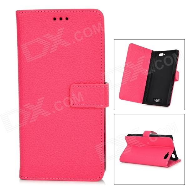 IKKI Protective Flip Open Leather Case w/ Stand + Card Slot for Amazon Fire Phone - Deep Pink цена