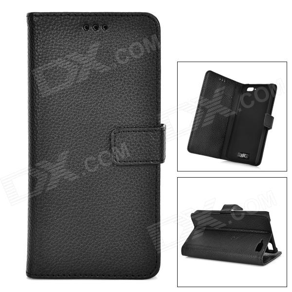 IKKI Protective Flip Open Leather Case w/ Stand + Card Slot for Amazon Fire Phone - Black стоимость