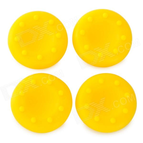 FT-XP01 Replacement Silicone Anti-Slip Joystick Caps for PS4 / XBOX 360 / XBOX One - Yellow replacement thumbstick joystick caps set for xbox 360 red pair