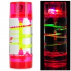 Creative Oil Drop Cylindrical Hourglass Shaped Lamp - Red + Light Green + Multi-Color