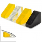Anti-slip Silicone Cell Phone Holder for Car - Yellow + Black + Transparent