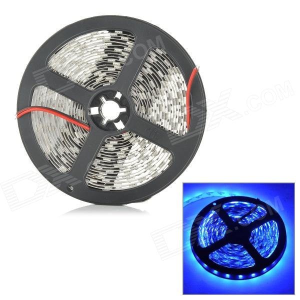 ZDM ZDM-5050-60-P33-B 72W 250lm 465nm 300-SMD 5050 LED Blue Light Strip - White (DC 12V / 5M) zdm waterproof 72w 200lm 470nm 300 smd 5050 led blue light strip white grey dc 12v 5m