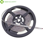SENCART Waterproof 12W 45lm 590nm 300-SMD 3528 LED Yellow Light Strip - White (DC 12V / 5M)