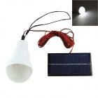Portable Solar Powered 0.55W 144lm 12-LED White Outdoor Light Bulb - White (3.7V)