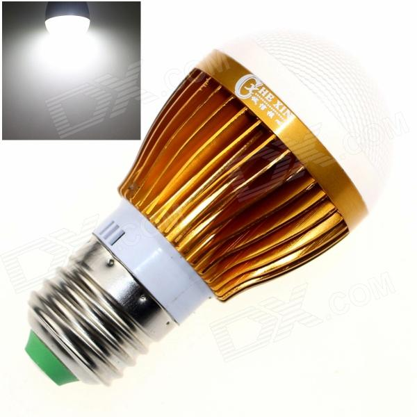 CXHEXIN G27-8 E27 8W 560lm 6000K 16-SMD 5630 LED White Light Bulb - White + Gold (AC 85~265V) cxhexin s27 8 e27 8w 560lm 3000k 5630 smd led warm white light bulb white silver ac 85 265v