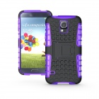 Protective TPU + PC Case w/ Holder for Samsung Galaxy S5 - Purple + black
