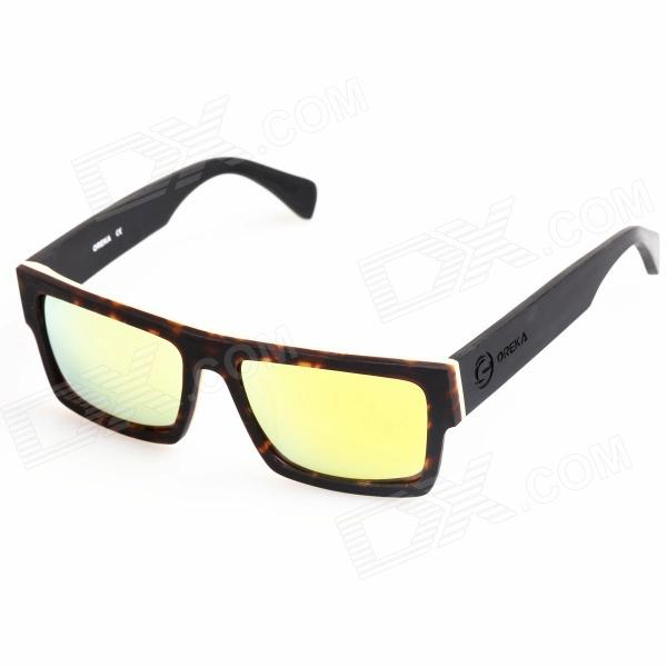 OREKA Cellulose Acetate Frame Rein Lens UV400 Polarized Sunglasses - Black oreka children s cool cellulose acetate frame blue revo lens uv400 sunglasses brown blue