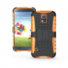 Protective TPU + PC Case w/ Holder for Samsung Galaxy S5 - Orange + Black